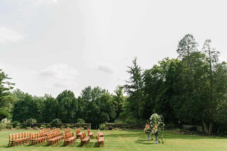 A summer wedding at Hawken Upper School in Gates Mills, OH with Becky and Rob.