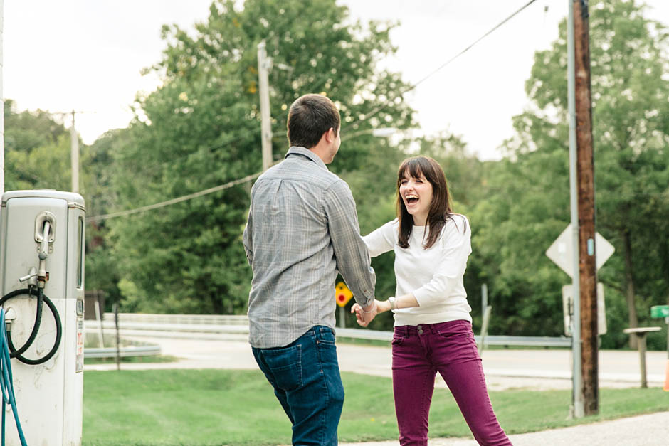 A fall Cuyahoga Valley National Park engagement session with Rachel and Matt.