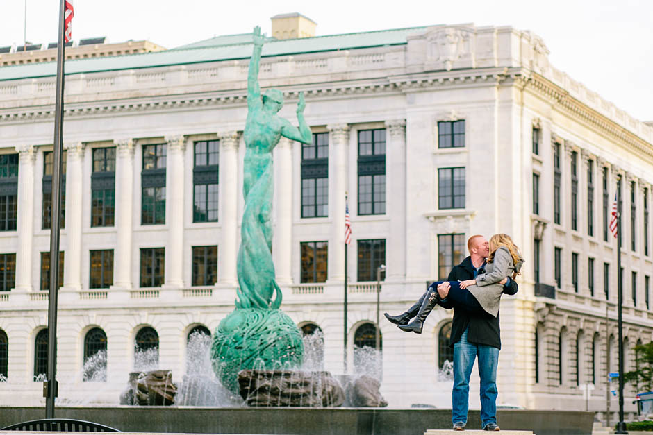A Downtown Cleveland portrait session with Susie and Ross.