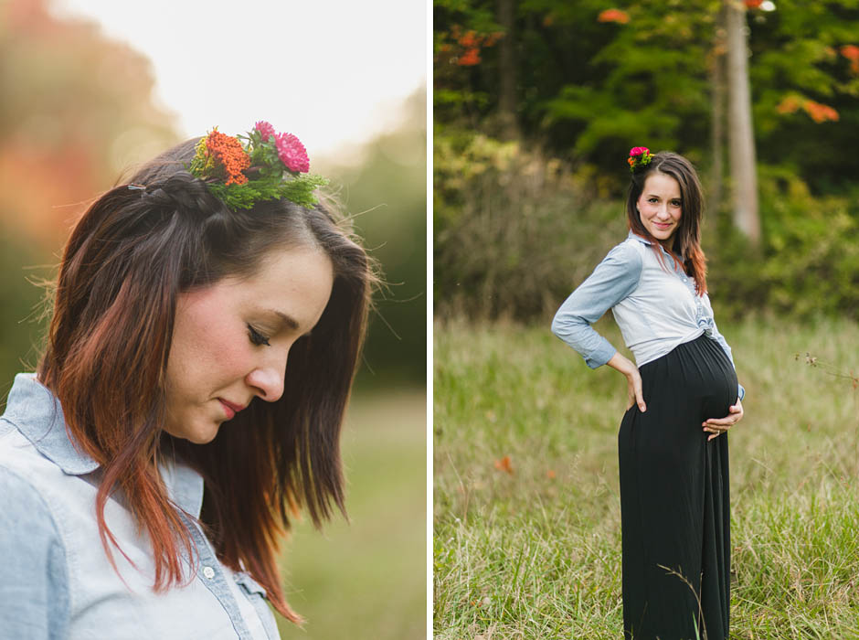 Cleveland fall maternity session with Tara.
