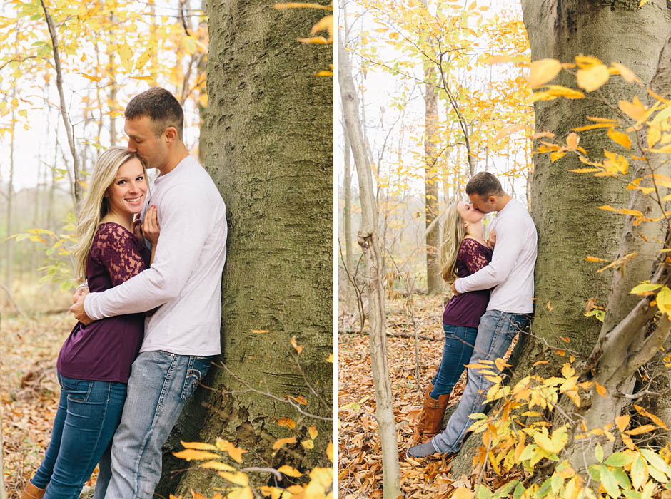 A Quail Hollow State Park engagement session with Chelcie and Ryan.