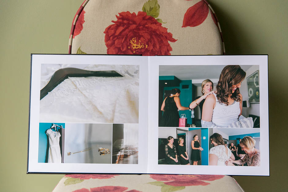 A 12x12 Leather sample album by Madera Books.