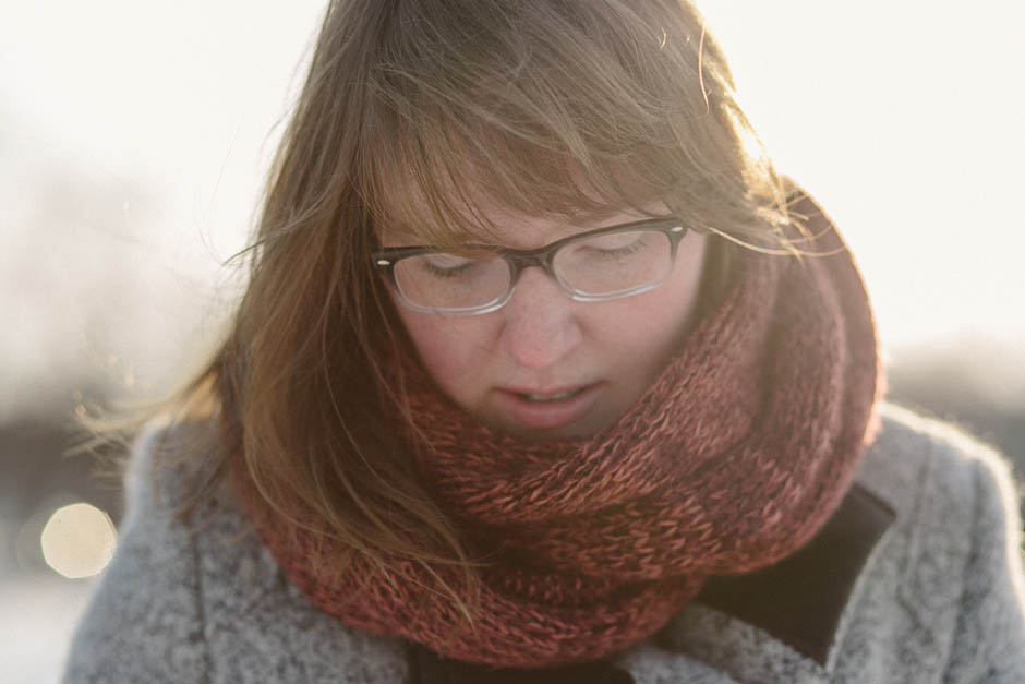 A winter portait session in Cleveland with Meghan.