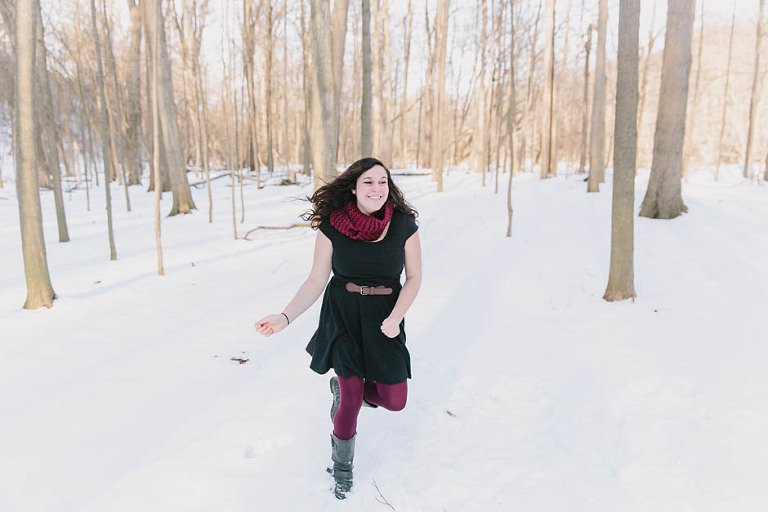A winter portait session in Cleveland with Maria.