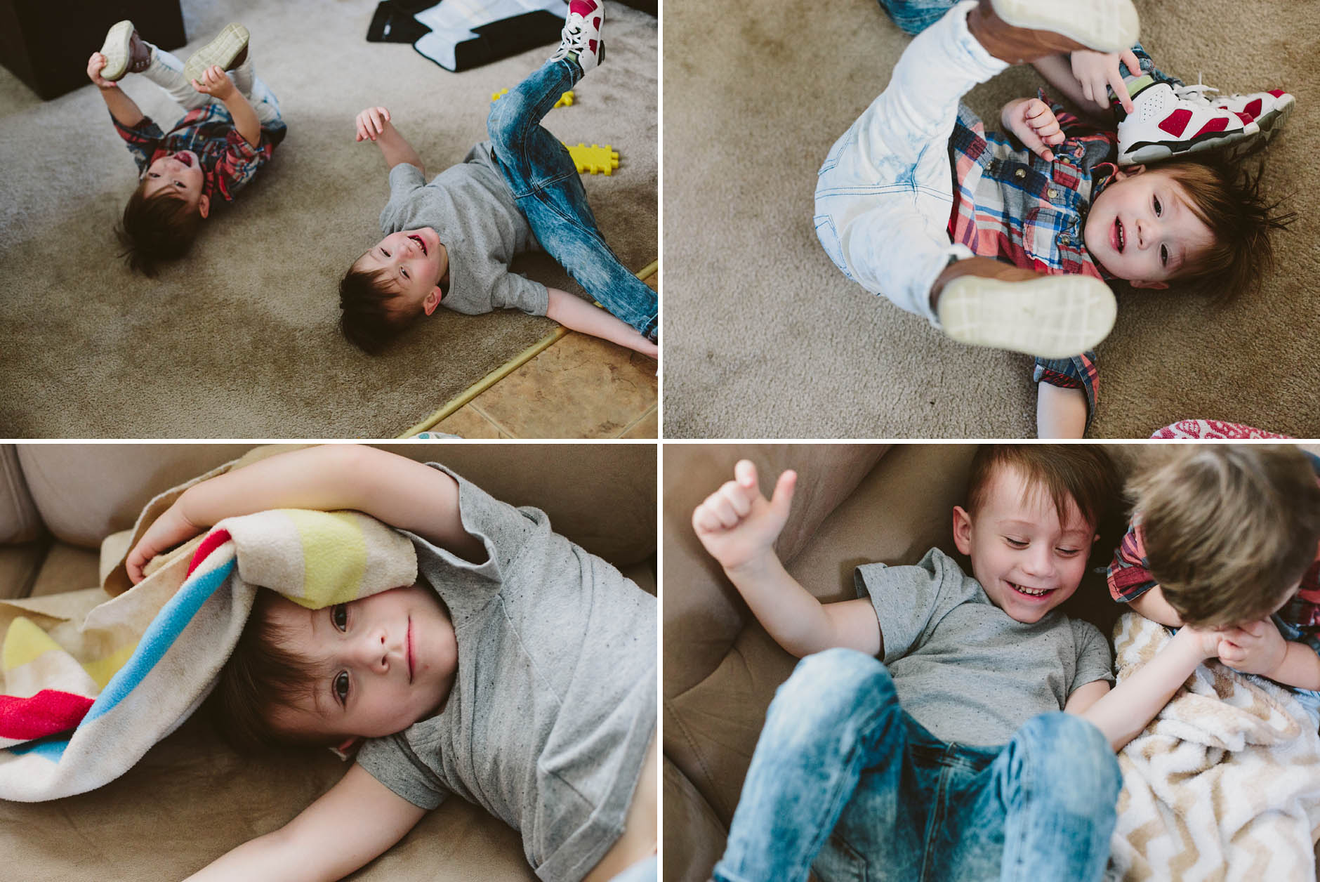 A spring lifestyle in-home session with the Klefsaas family.