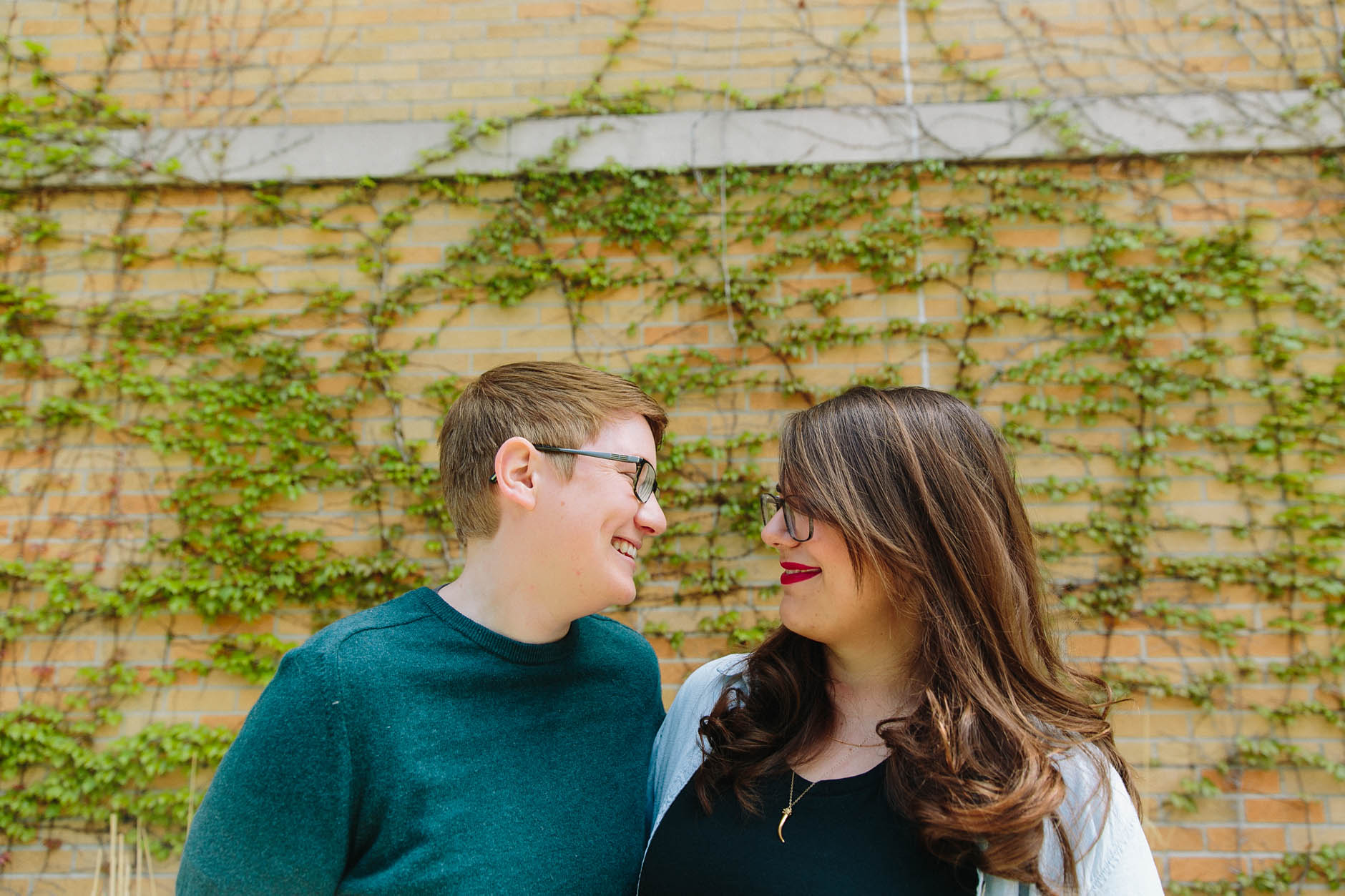 A spring Chicago engagement session with Lainie & Christine.