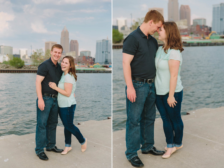 A spring Cleveland engagement session at Edgewater Park with Abby & Lou.