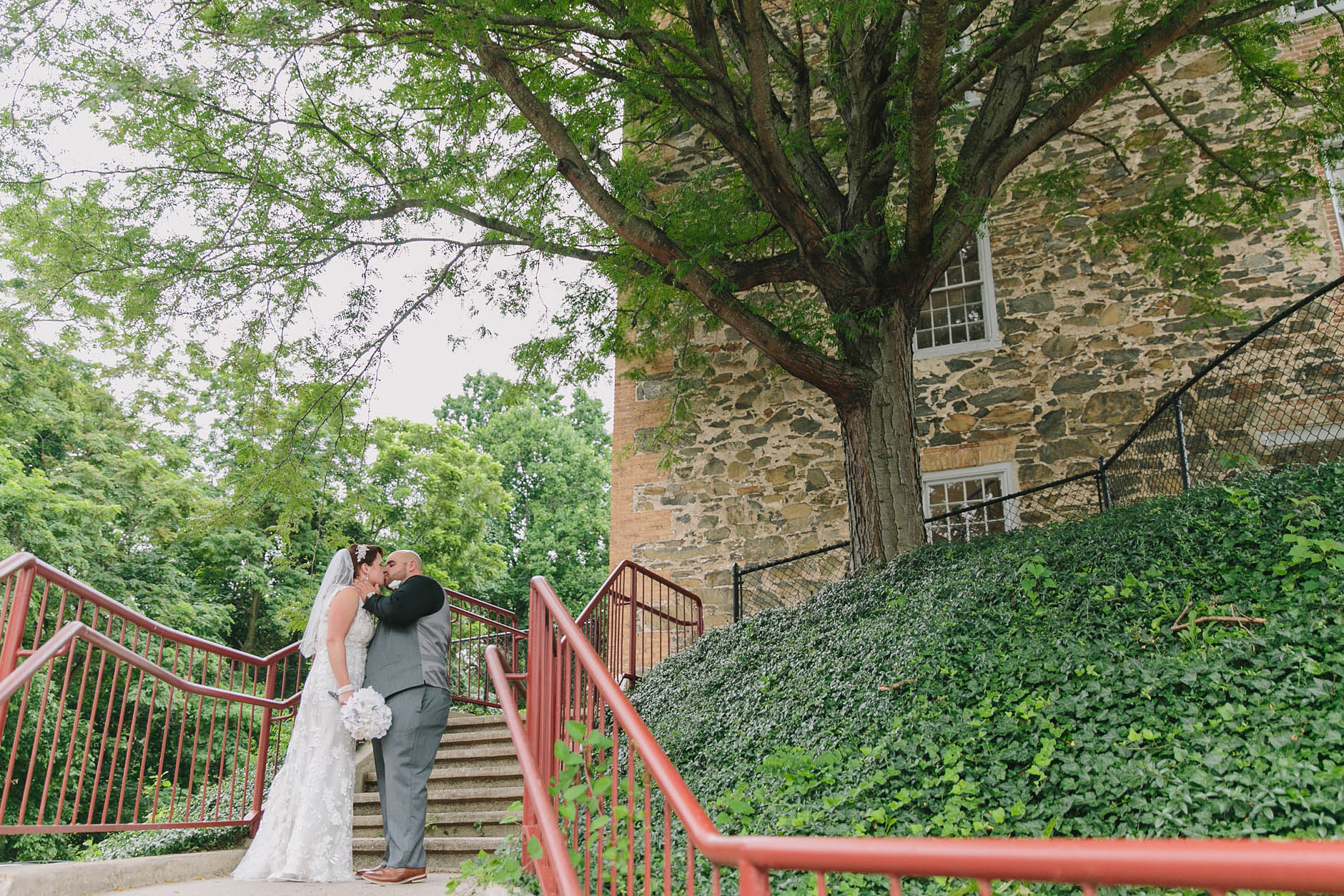 A summer wedding at the Great Room at Historic Savage Mill in Savage, Maryland with Beth & Chris. All photos created by Maria Sharp Photography. To view more please visit, http://www.mariacsharp.com/