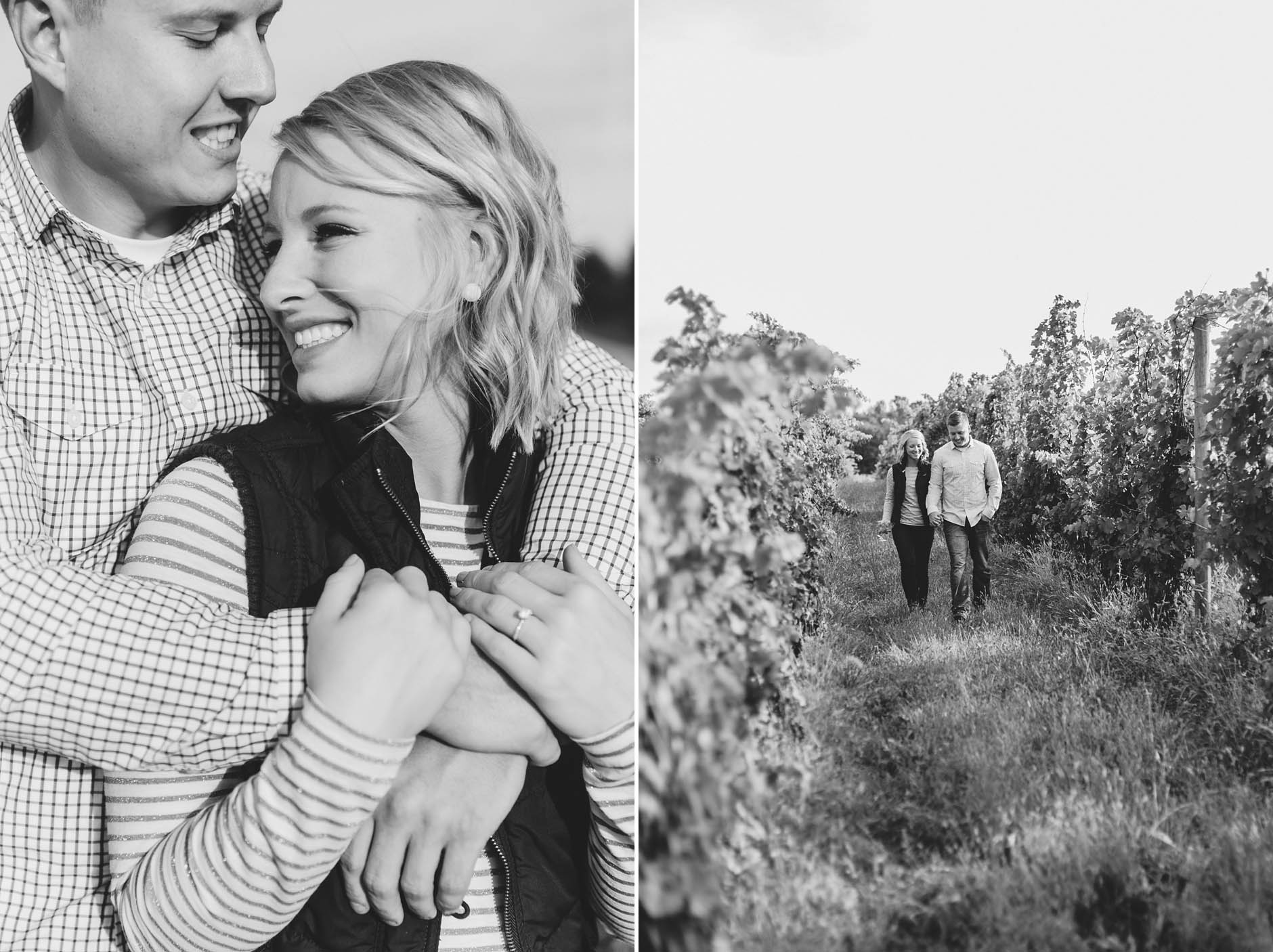 A fall engagement session at South River Vineyard in Geneva and Geneva on the Lake with Rachel & Caleb. All photos created by Maria Sharp Photography. To view more please visit, www.mariacsharp.com