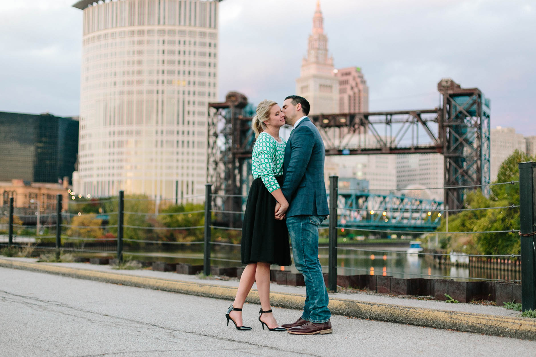 A fall engagement session in Cleveland with Katie & Sean.