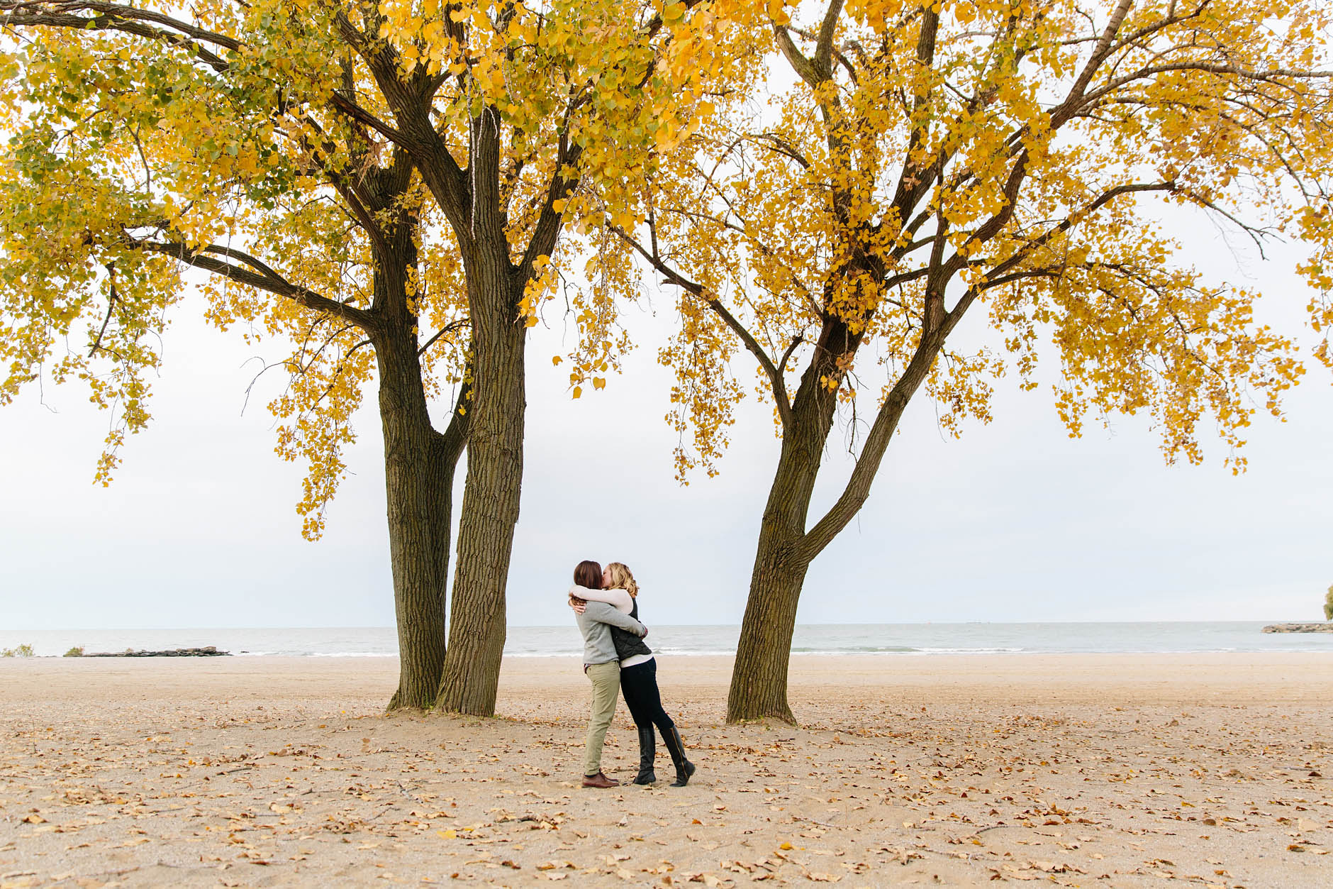 A fall engagement session in Cleveland with Mary & Maura.