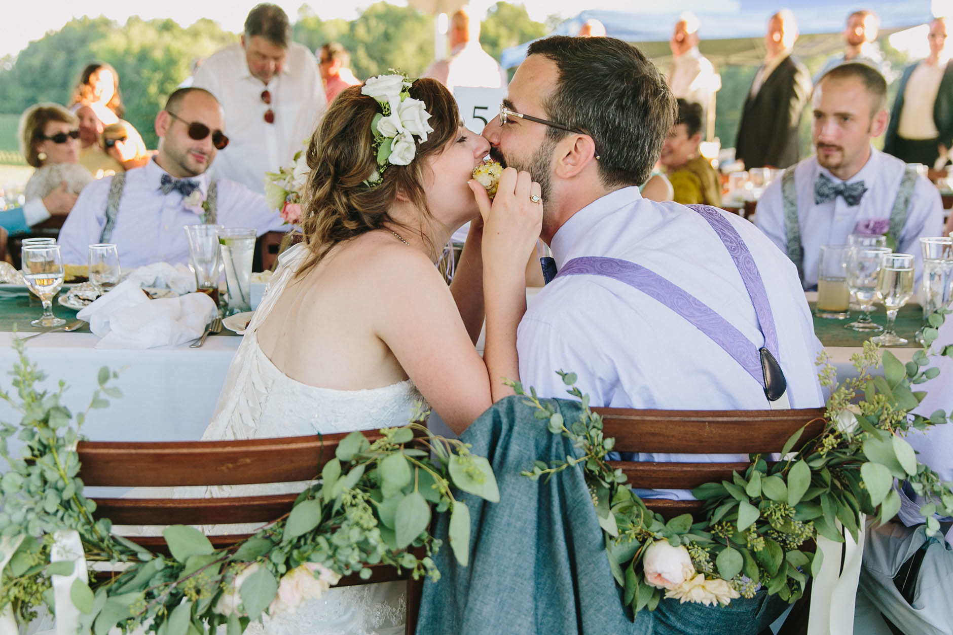 A backyard country wedding in Mt. Vernon with Laura & Fletcher.