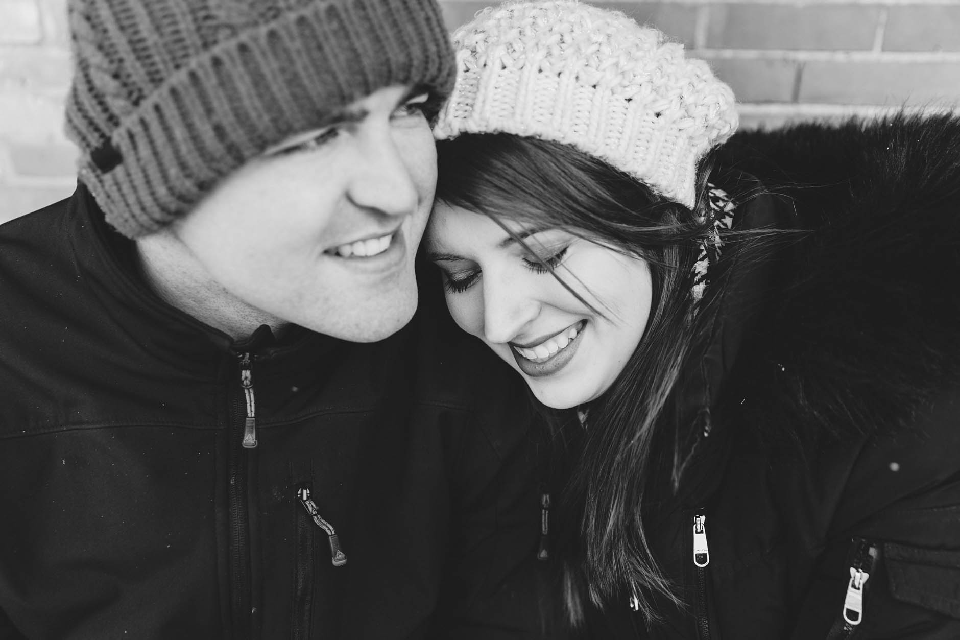 A winter engagement session in Kent with Erin & Chris.
