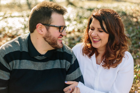 A spring engagement session at Mill Stream Run in Berea and downtown Cleveland with Abbie & Eric.
