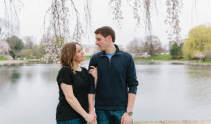A spring engagement session in Cleveland with Erin & Phil.