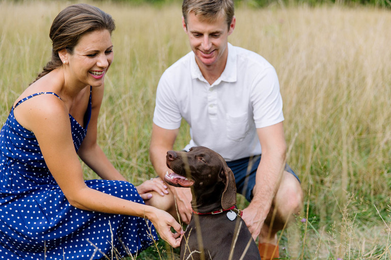 summer-engagement-session-dog