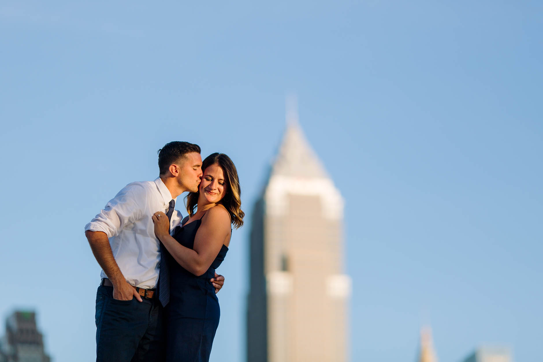 Voinovich Park engagement session with Caroline & Dan