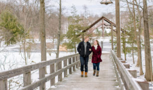 Winter engagement session in Cleveland with Laura & Josh.