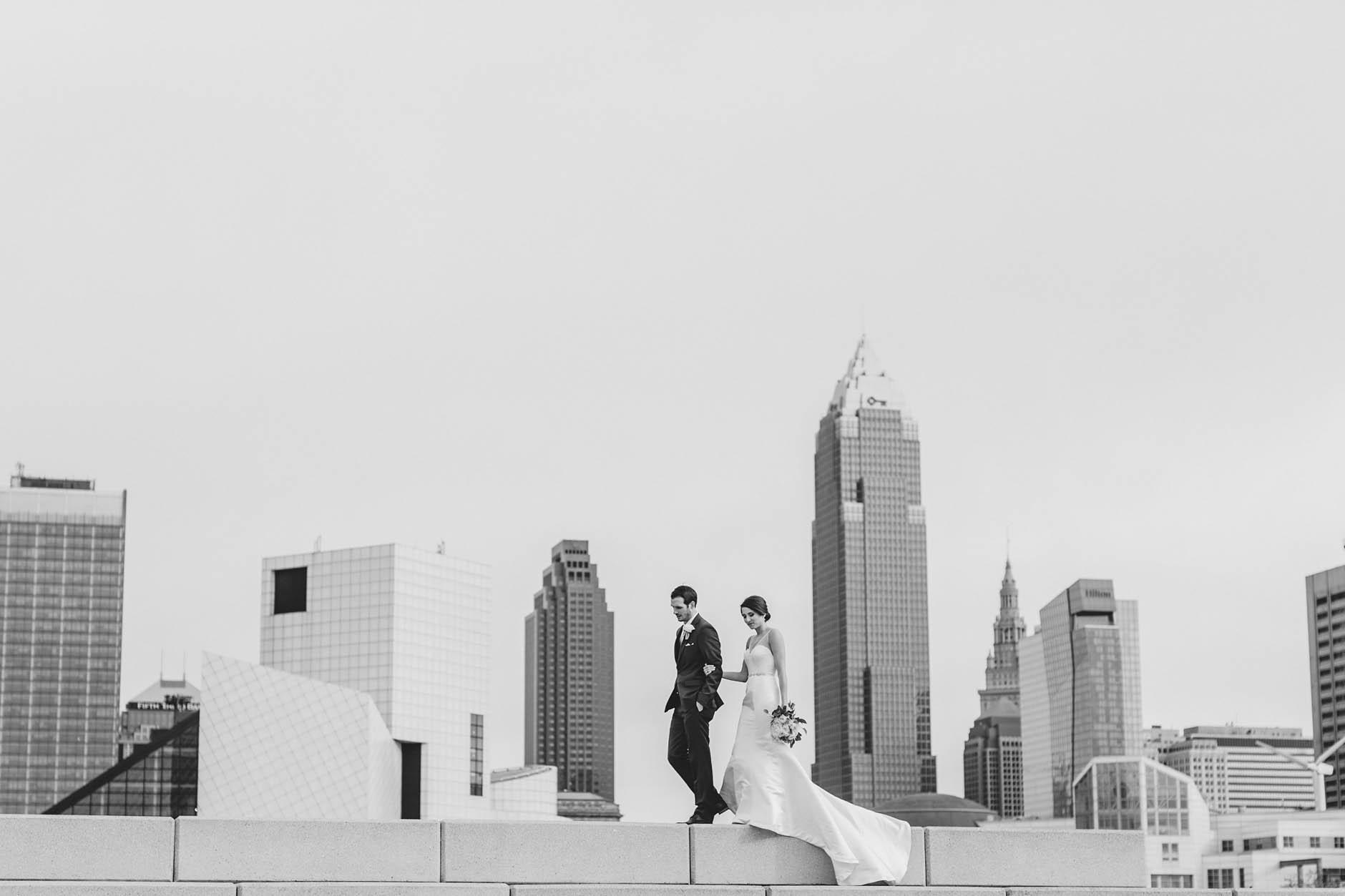 Crown Plaza at Playhouse Square wedding with Carrie & Steven.